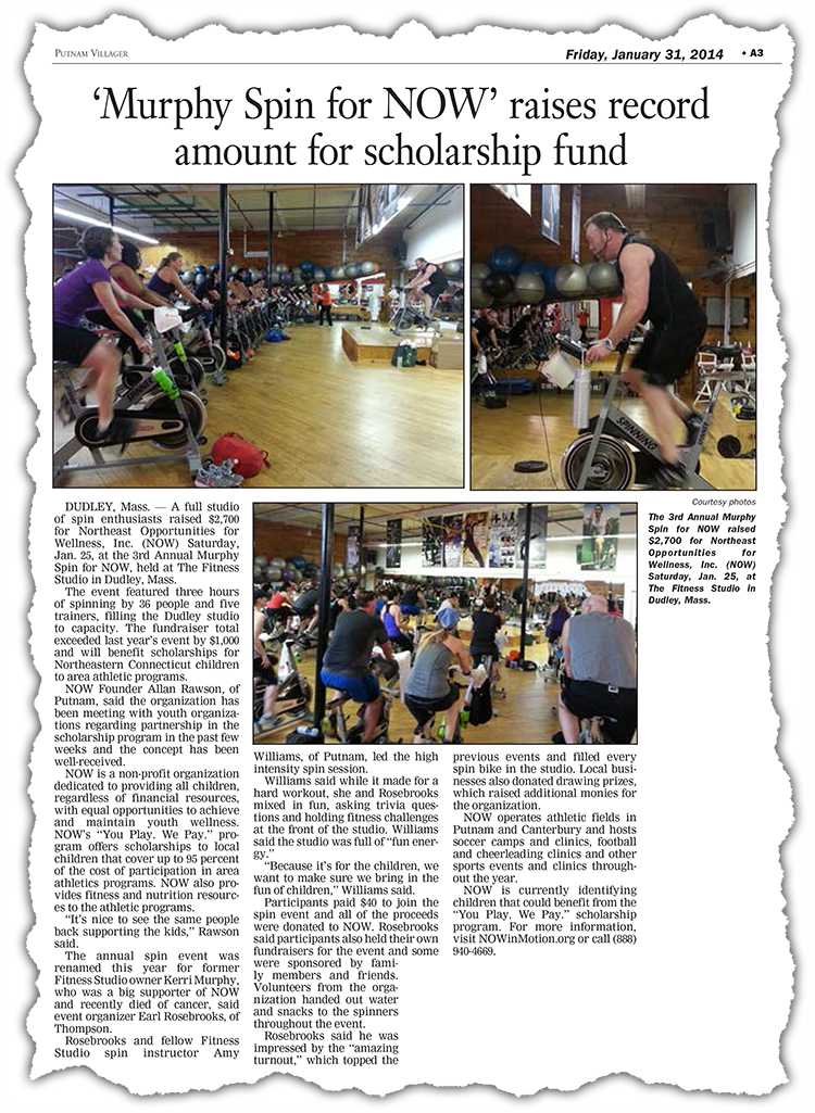 Spin Article from Putnam Villager