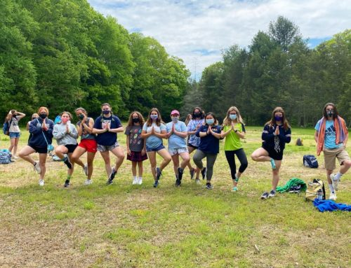 NOW Teaches Yoga at Woodstock Middle School Field Trip to Mashmoquet Brook State Park